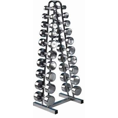 Chromed Dumbbell Rack For 10 Pairs Dr107 Sportsystems Lv