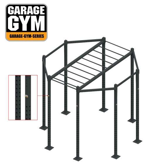 Functional fitness station with accessories gg